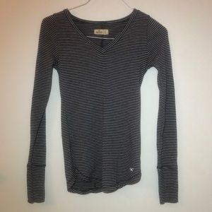 Hollister Long Sleeved Striped Tee